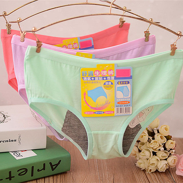 5d7ae16ac2dc 2018 panty ladies cotton underwear modal day and night period panty tanga  thong g string bragas