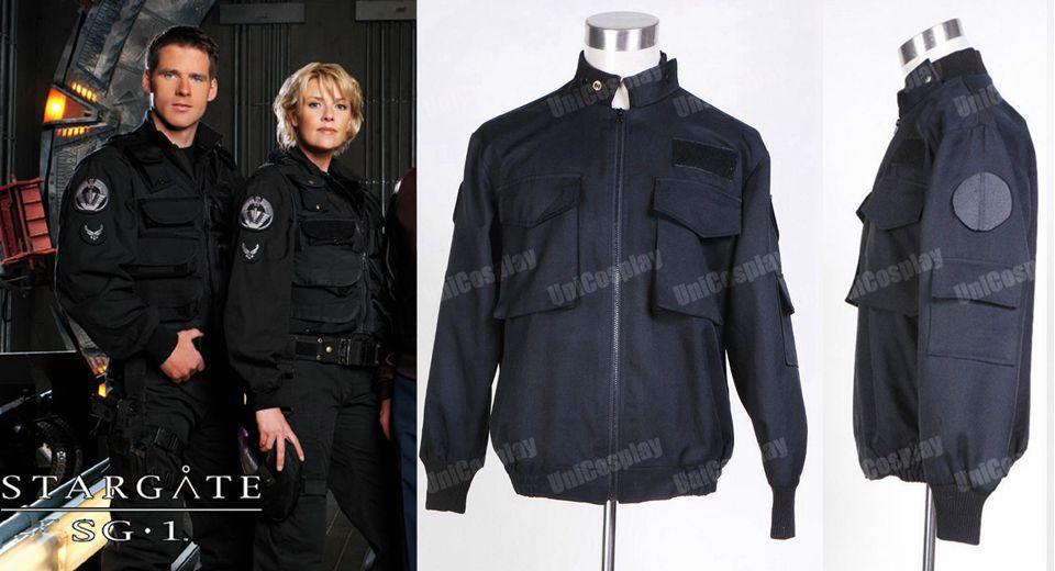 Stargate SG1 Black Uniform Jacket Cosplay - Carnavalskostuums