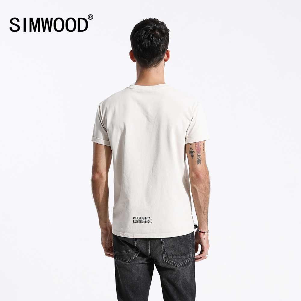 SIMWOOD y no puede Original 2019 T camisa de los hombres de moda carta impresión camisetas de alta calidad para hombres envío gratis 180486