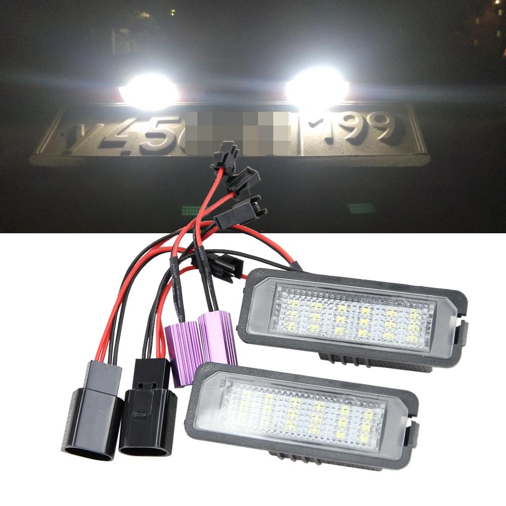 2x 18SMD LED Nombre de Plaque D'immatriculation Kit Pour Porsche Carrera Boxster Cayman Cayenne 987/997/958 Canbus queue Ampoule de Remplacement