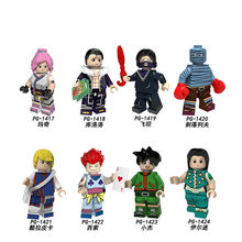 Hot Single Sale Anime Full Time Hunter Madge Culolo Illman Cartoon Model Figure Building Blocks For Children Mini Toys Gift jm46(China)