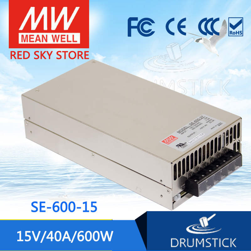 все цены на (Only 11.11)Genuine MEAN WELL SE-600-15 (1Pcs) 15V 40A meanwell SE-600 15V 600W Single Output Power Supply онлайн