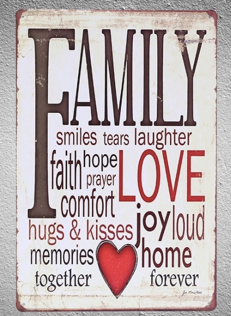 60 Pc English Quotes Family Love Memory Faith Joy Home Tin Plate Sign Magnificent Love Plaques Quotes
