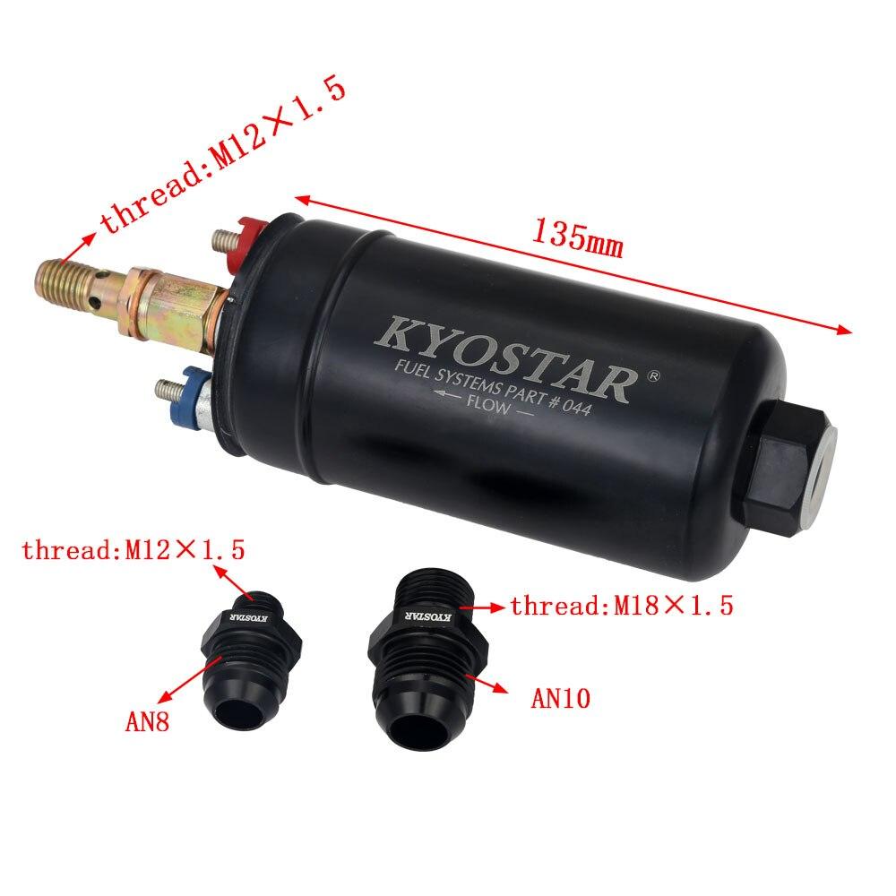 Bomba De Combustível EFI 380LPH 044 Estilo E85 Compatível Com 10AN M18x1.5 8AN Montagem Externa Universal de Alta Pressão Da Bomba De Combustível