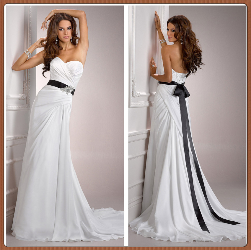 Chinese Online Store 2015 Strapless Pleated Chiffon With Satin Belt