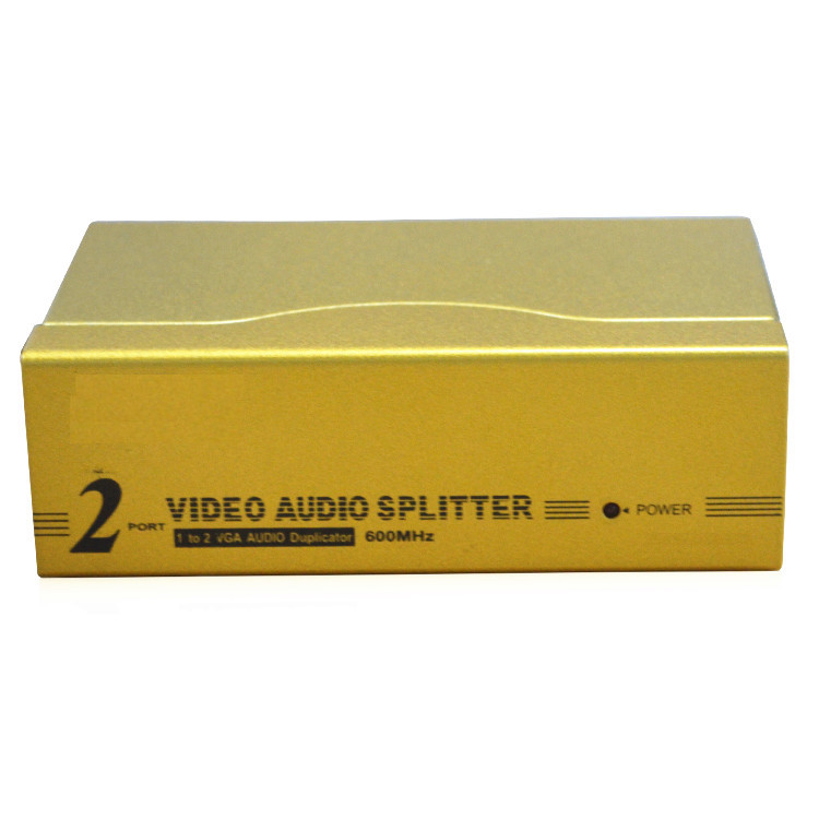 цена HighTek HK-V1T2MHA 600MHz High Quality Product Factory supply 2 Port VGA Splitter switch box with Audio онлайн в 2017 году