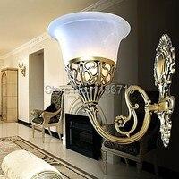 Европейский ретро классический Настенные светильники бронза настенные бра настенные лампы светодиодные лампы