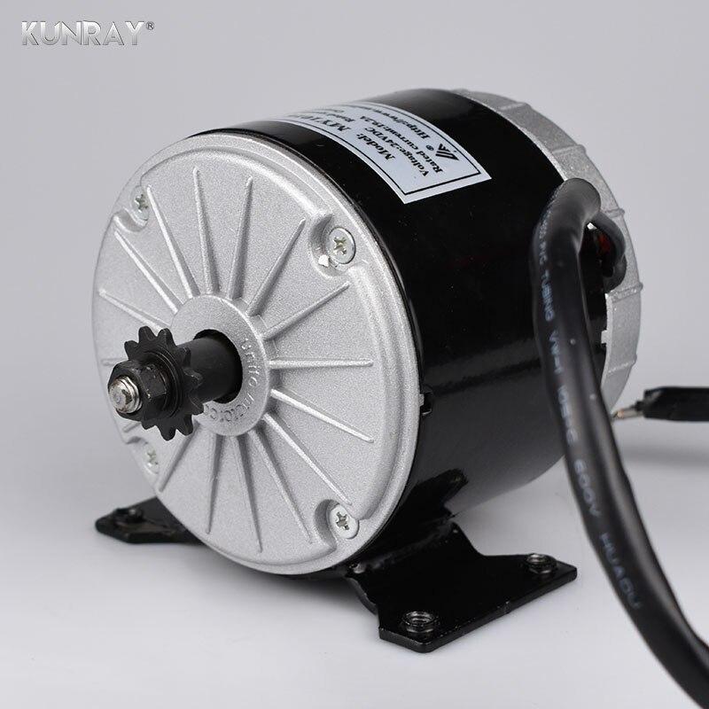MY1016 24 V 350 W DC Motore della Spazzola Ad Alta Velocità Per Scooter Elettrico Ebike 2750 RPM 19.2A Nm E Parti Della Bicicletta Della Bici Bilanciamento Auto Motor