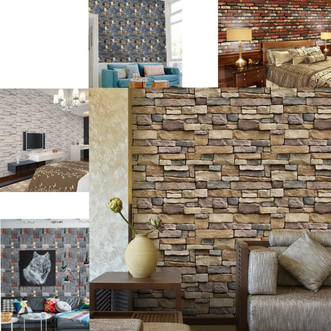 Vertical Brick Wall Accents Wall Decal: Aliexpress.com : Buy Wall Sticker 3D Wall Paper Brick