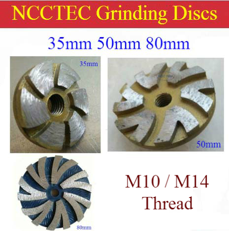 1.4'' 2'' 3.2'' Diamond grinding CUP wheel | 35mm 50mm 80mm small Concrete DRY grinding disc for angle grinder | M10 M14 thread