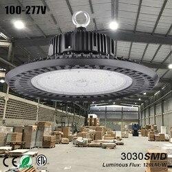 НЛО led lampen industrieel taller светильник НЛО высокого залива свет bouwlamp гараж лампы Семинар свет 150 w черный лампа склад