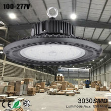 ufo led lampen industrieel taller luminaire ufo high bay led light bouwlamp garage lamp workshop light 150w black lamp warehouse(China)