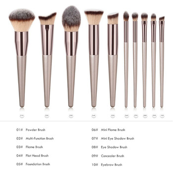 Luxury Champagne Makeup Brushes Set For Foundation Powder Blush Eyeshadow Concealer Lip Eye Make Up Brush Cosmetics Beauty Tools 2