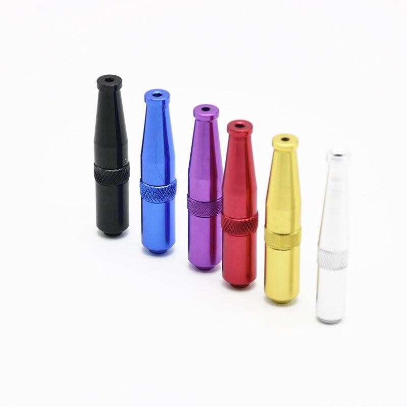 30 PCS Mix Couleurs Torpille Style Métal Mini À Priser Tuyau En Aluminium Portable Pas Cher Tabac Herb Tuyau pour Fumée Fumer À Priser tuyau