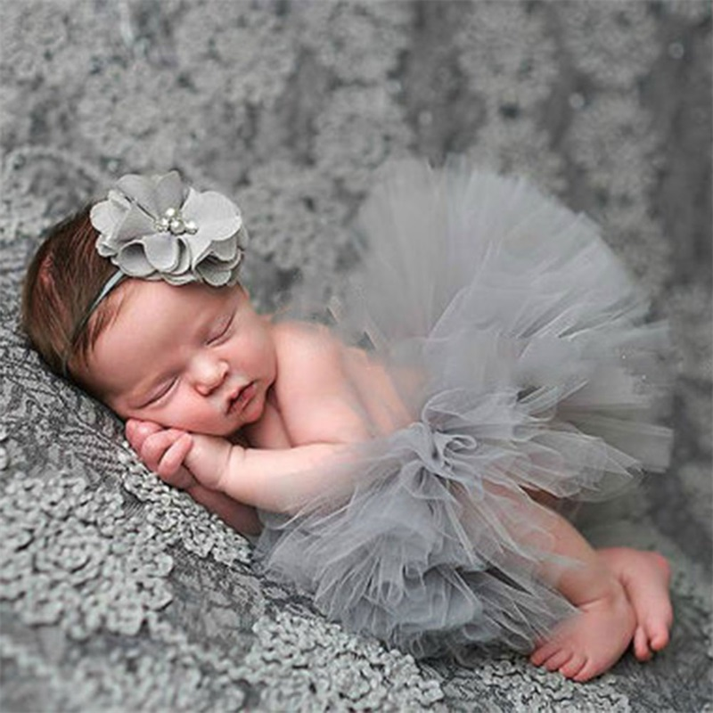 Newborn Baby Girls Boys Strapless Headband Tutu Skirt Suit Crochet Knit Costume Flower Photo Photography Prop Outfit newborn baby photography props infant knit crochet costume peacock photo prop costume headband hat clothes set baby shower gift page 6
