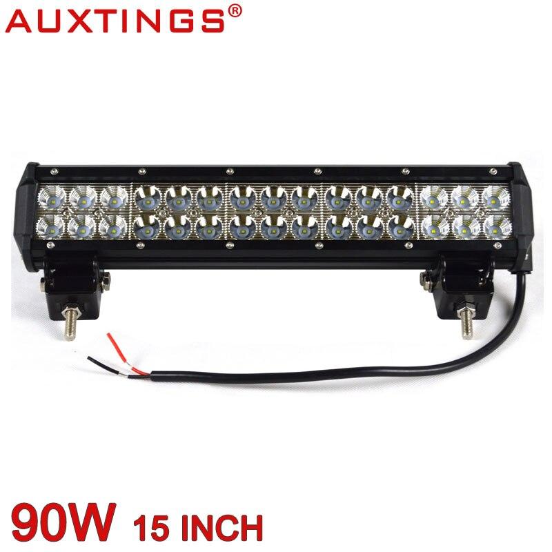 Auxtings 90W 15 inch Double rows wateproof dustproof 6500K offroad 4x4 led light bar
