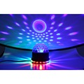 Mini LED Color Changes RGB Disco Light Sound Actived Lamp 15W 2 in 1 Stage Light Mini Rotating Magic Ball Party Lights