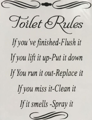 Toilet Clean Message : toilet, clean, message, Creative, Toilet, Washroom, Rules, Letter, Quote, Stickers, Bathroom, Removable, Decals, Decor, J|Wall, Stickers|, AliExpress