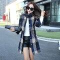 2016 Casaco Feminino Fashion Plaid Wool Coat Medium Long Slim Cashmere Jacket Wool Manteau Femme Wool Jacket Coat Female WUJ0452