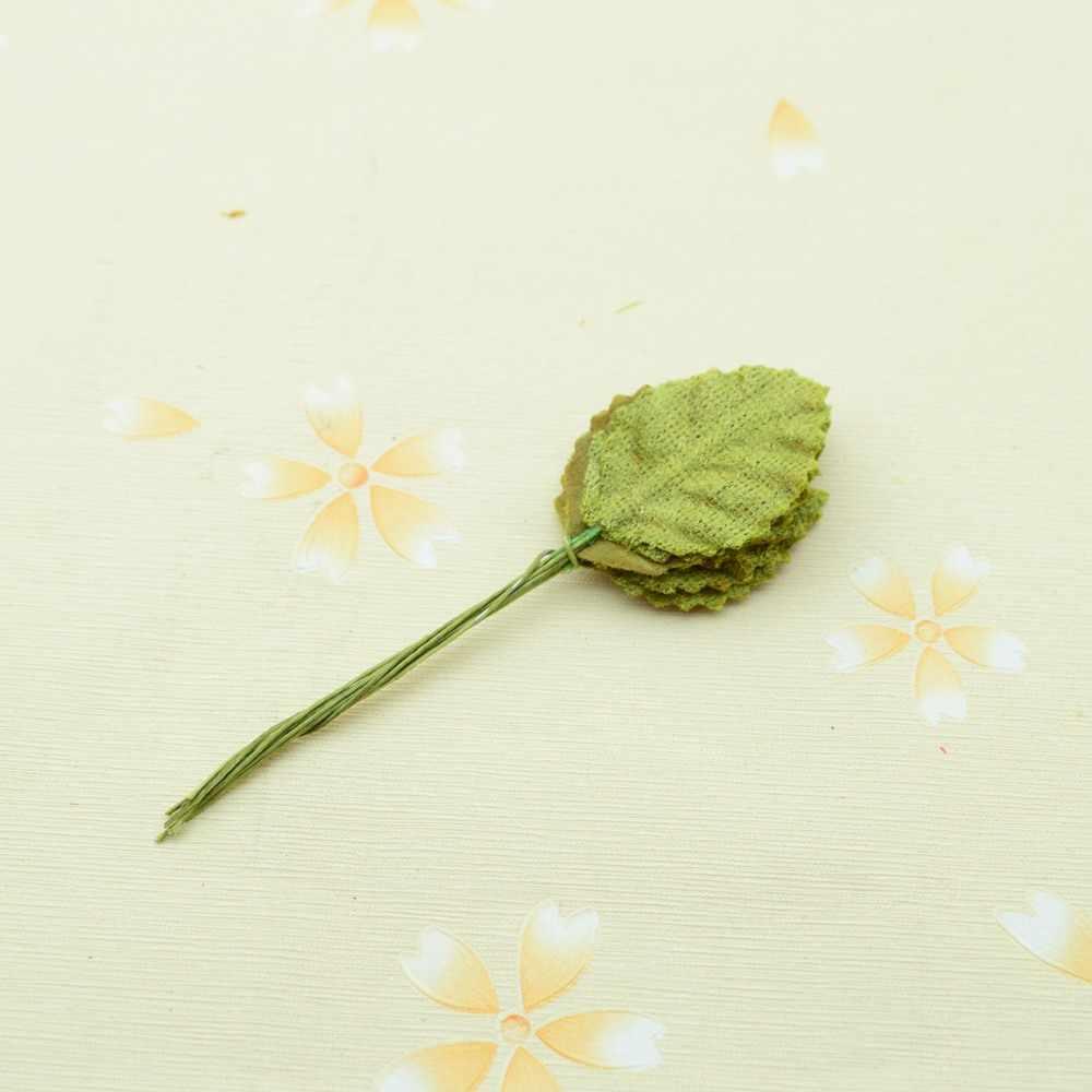 10 pièces faux plastique vert feuilles noël couronne bricolage cadeau maison mariage décor accessoires plantes artificielles fleurs soie feuille