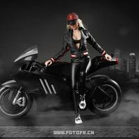 Soldier 1/6 women's clothing ratio, suitable for 1/6 action model motor vehicle leather clothing