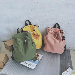 Image 5 - بلون حقيبة متعددة الوظائف حقيبة من القماش النساء Mochila حقيبة مدرسية للفتيات حقيبة ظهر للسفر حقيبة المدرسة للفتيات