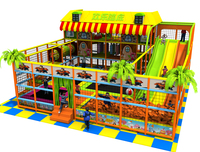 Customized Amusement Indoor Playground Park Big Slide Sport Trampoline With Sponge Pit YLW IN171056