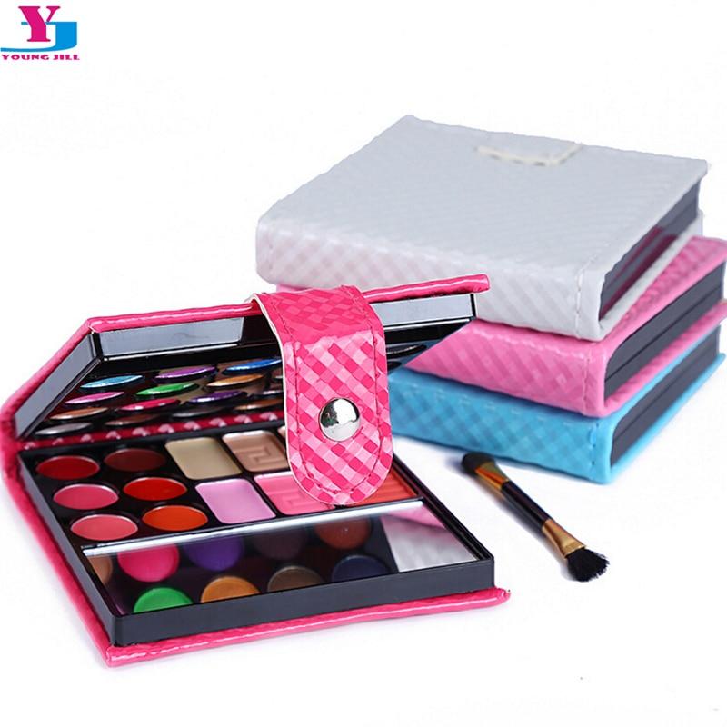 Neue Make-Up Set Verfassungspalette 20 Farbe Glitter Matte Gesicht erröten Paletten Lipgloss lidschatten Mit Pinsel Spiegel Kosmetik Werkzeuge