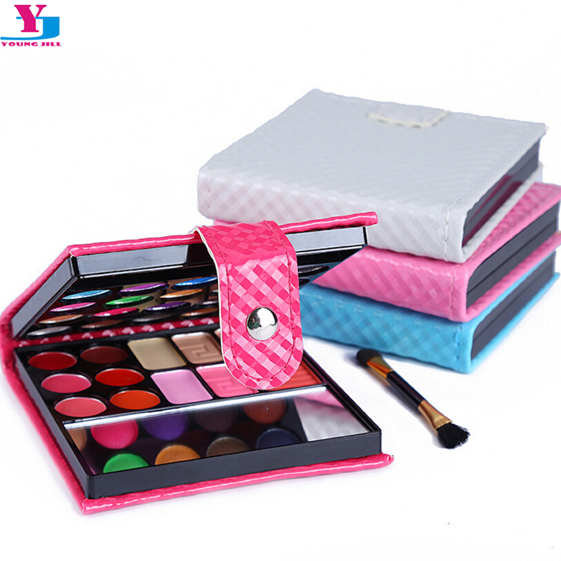New Make Up Set Makeup Palette 20 Color Glitter Matte Face Blush Palettes Lip Gloss Eye shadow With Brush Mirror Cosmetics Tools 15 pcs nylon face eye lip makeup brush set page 3