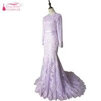 יוקרה אלגנטי שרוול ארוך שמלות חתונה מוסלמית ערבית טורקיה כלות חתונת שמלות בת ים שמלה ארוכה Z340