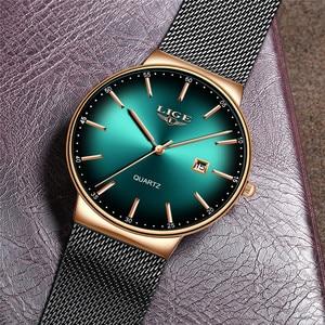 Image 4 - LIGEกีฬาวันที่บุรุษนาฬิกาแบรนด์หรูกันน้ำแฟชั่นนาฬิกาผู้ชายUltra Thin Dialนาฬิกาควอตซ์Relogio Masculino