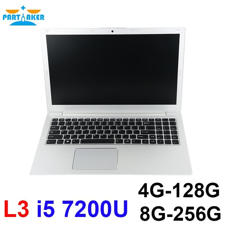 Partaker L3 Laptops PC Computer 15.6 inch Windows10 1920*1080 DDR4 4GB RAM 128GB M.2 SSD dual-core Notebook PC BT4.0