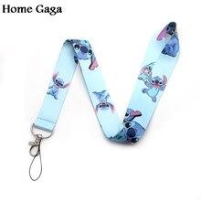 Homegaga Pretty popular Stitch cartoon lanyards neck straps for phones keys bead id card holders keychain webbing D0465