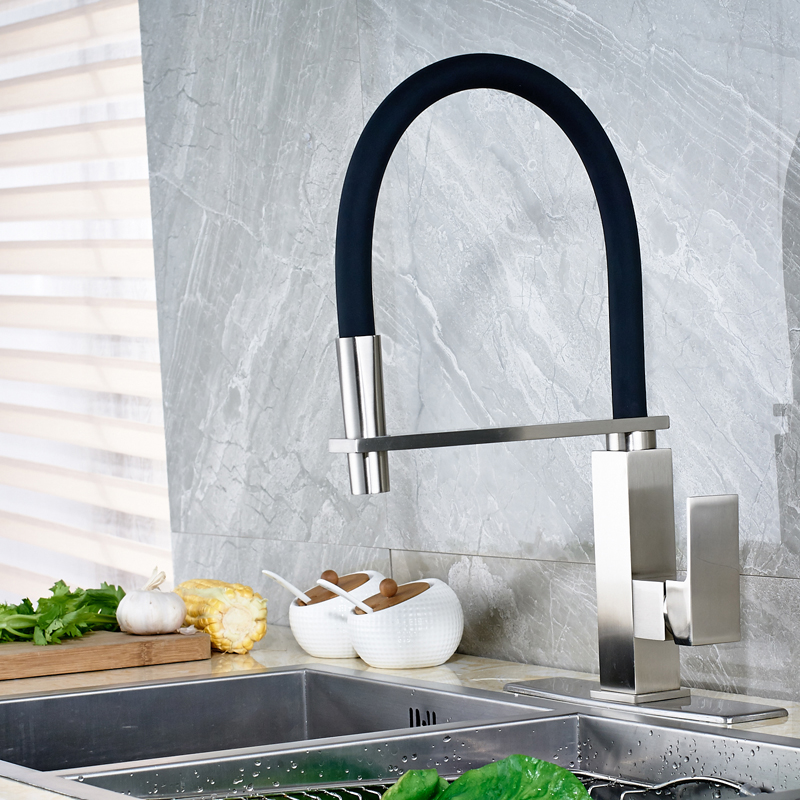 Wholesale and Retail Kitchen Faucet with Hole Cover Plate Single Handle One Hole