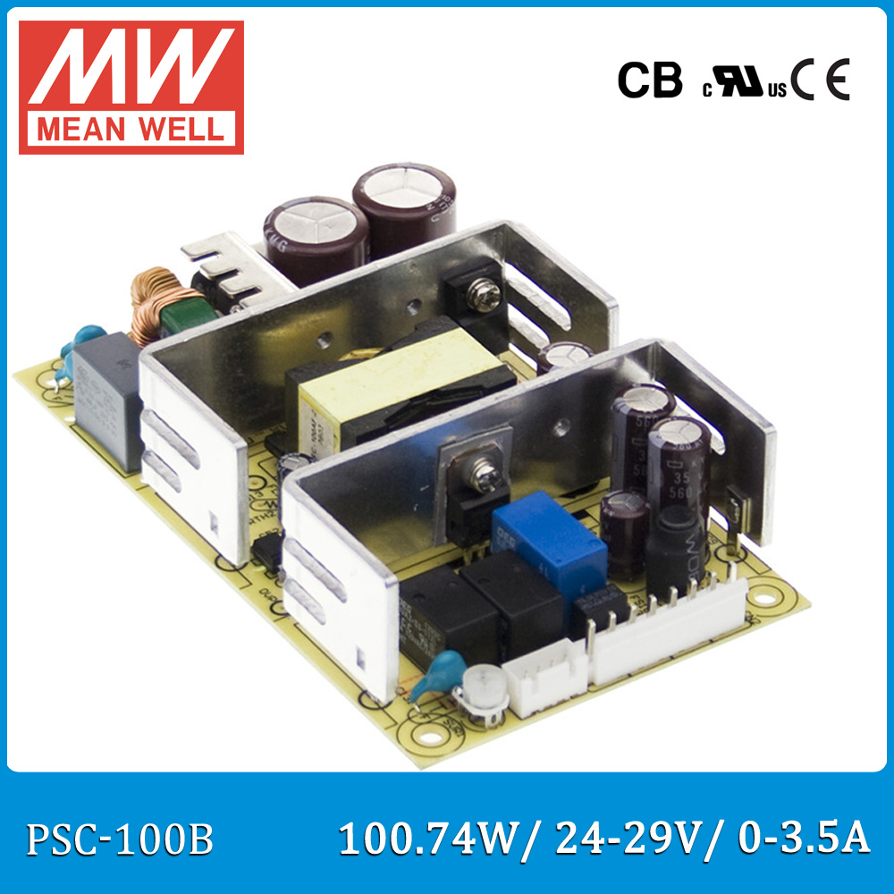 Original Meanwell PSC-100B 100W 24~29V 0~3.5A security power supply battery charger(UPS function) PCB type лопата truper psc b ws 33813