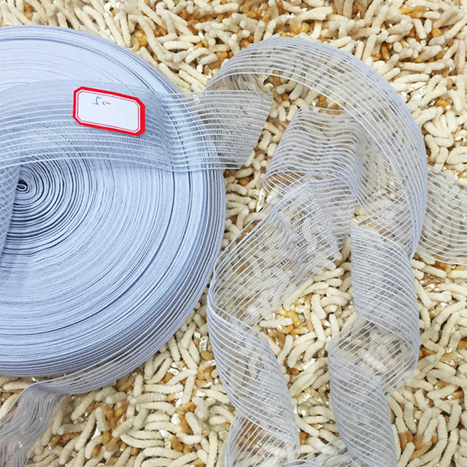 50 Yards 25mm/30mm/35mm/40mm/45mm/50mm Elastic Band For Sewing Underwear White Net Elastic Ribbon Garment Handmade Accessories