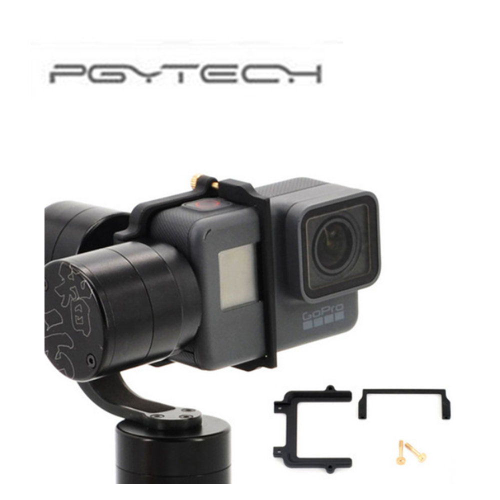 PGYTECH For GoPro Hero 5 Adapter Mount Bracket Plate Clip Holder for Zhiyun Z1 Evolution Gimbal Sports Action Camera Accessories