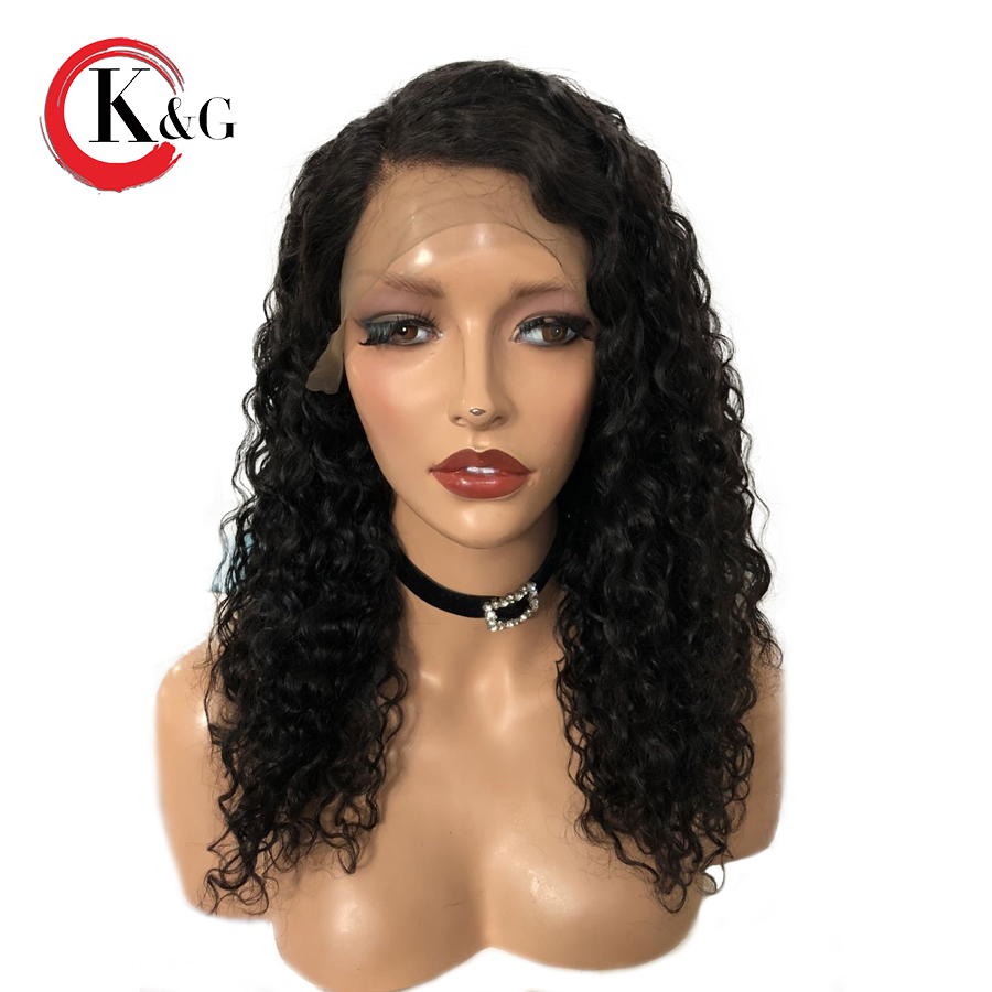 KUNGANG Lace Front Human Hair Wigs 13x6 Deep Part Brazilian Remy Hair Bleached Knots Wig Pre