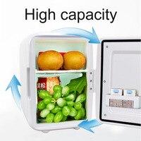 Outdoor Compact Size 4L Car Refrigerators Ultra Quiet Low Noise Car Mini Refrigerators Freezer Cooling Heating Box Fridge