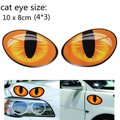 3D Смешно Светоотражающие Cat Eyes Наклейки Грузовик Окно Двери Наклейка Графика Наклейки Наклейки На Авто Зеркало Заднего Вида Head10 * 8 см