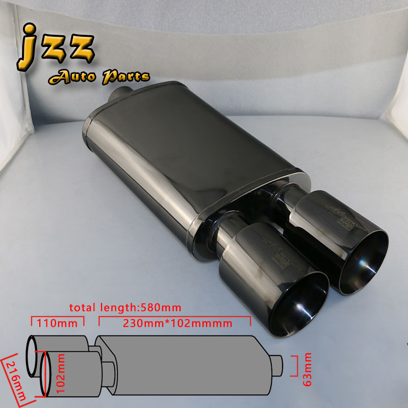 Jzz Universal High Quality Car Exhaust Tips Race Muffler Pipe Burned Total Black 25 Inch Inlet: Race Car Exhaust Tips At Woreks.co