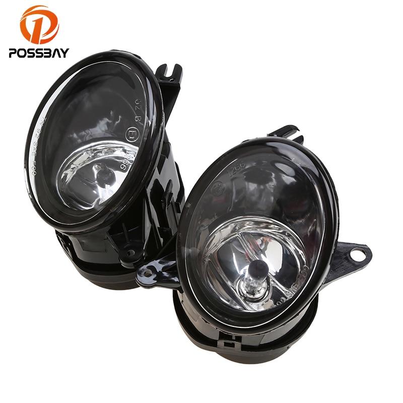 POSSBAY Car Front Fog Lights Foglamp Assembly With 12V 55W Bulbs For Audi A6 C5 Facelift