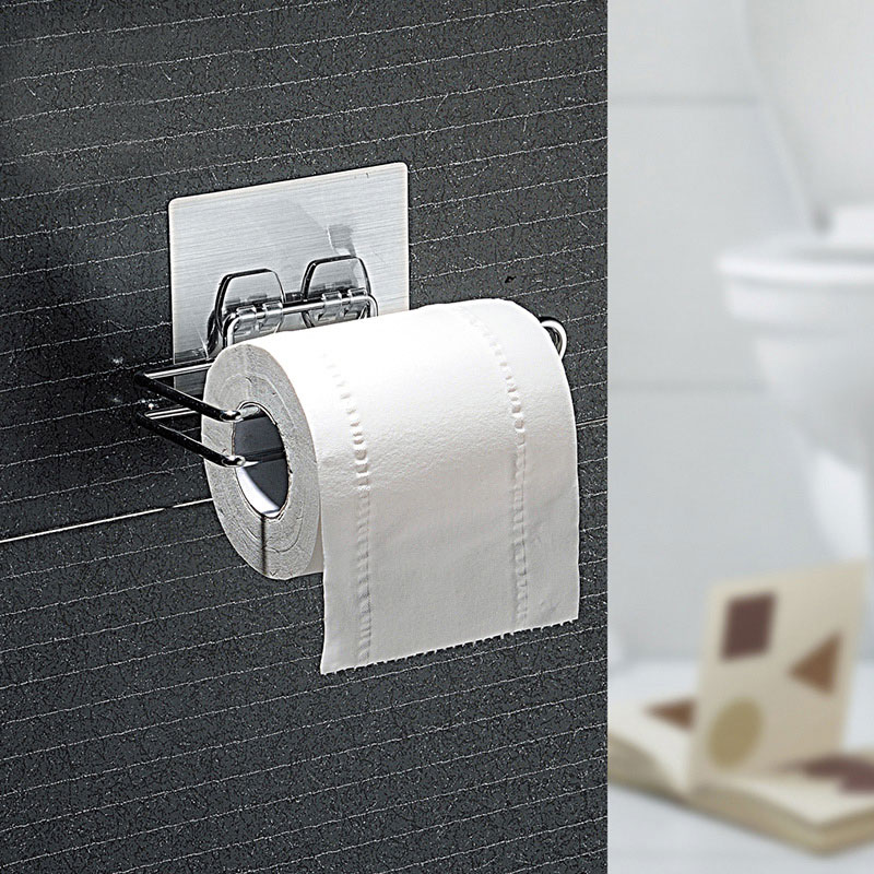 bathroom storage durable suction cup shelf roll paper storage holder towel bar f 695004692742 ebay. Black Bedroom Furniture Sets. Home Design Ideas