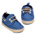 Con cordones Sólidos Zapatos de Bebé Únicos Zapatos de Los Niños de 0 a 1 Años de Edad el Bebé A16