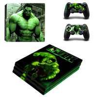 Hulk PS4 piel PS 4 Pro lápiz etiqueta Estación de juego 4 Pro Pegatinas de vinilo para Sony Playstation 4 Pro consola y controladores