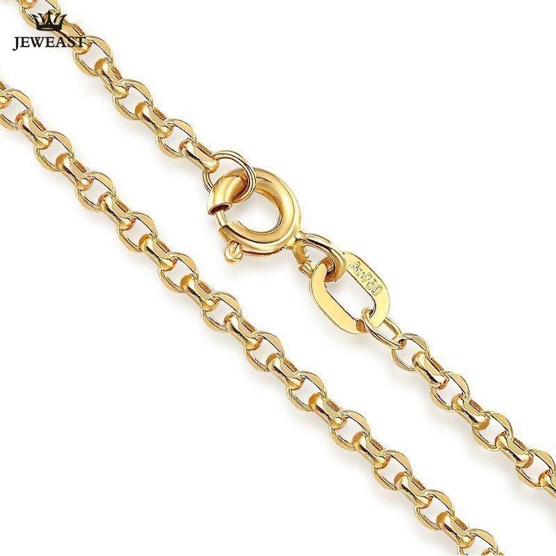 18K pur or collier réel AU 750 solide or chaîne Simple beau haut de gamme à la mode classique fête Fine bijoux vente chaude nouveau 2018