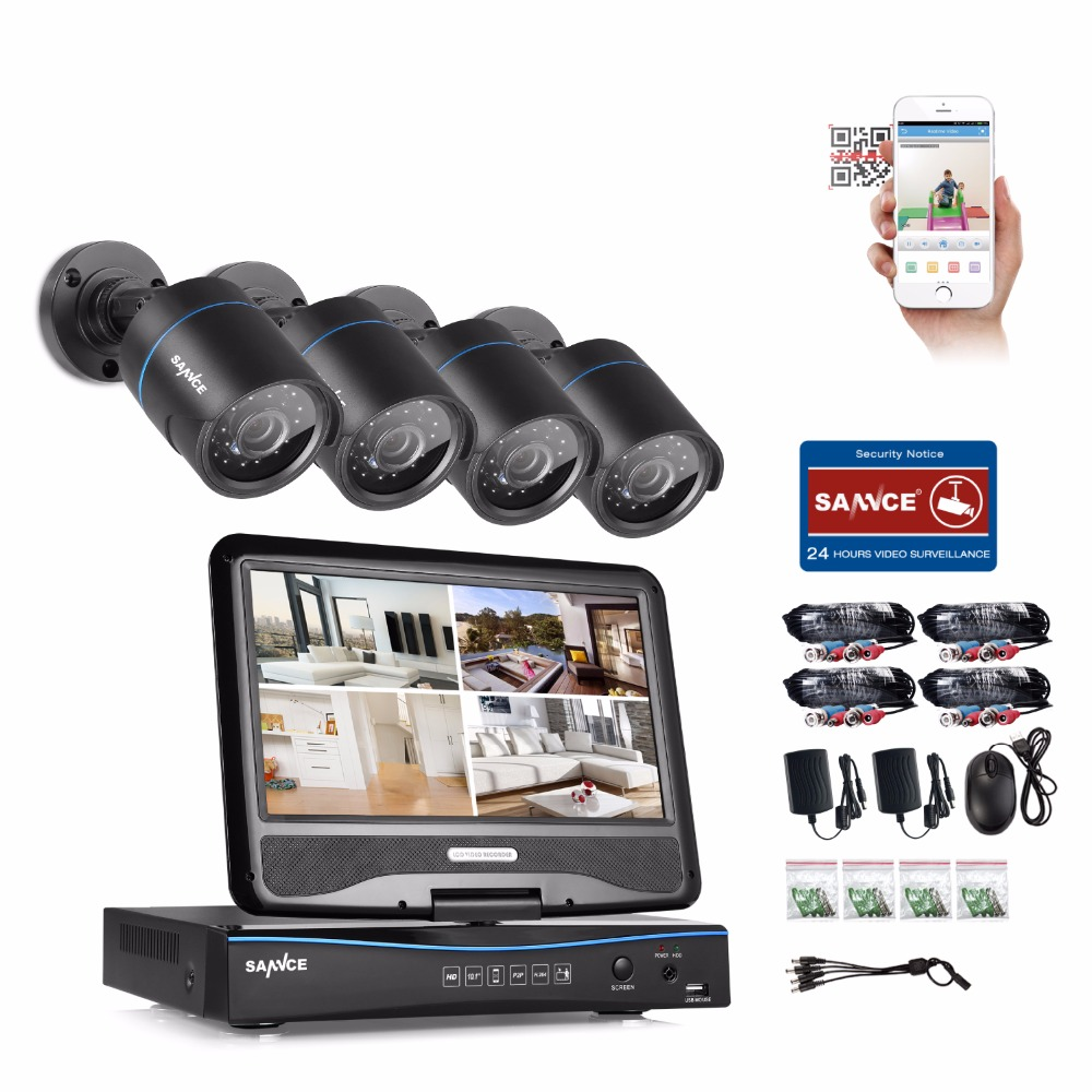 SANNCE 720P Surveillance System 4-Kanal-DVR mit integriertem - Schutz und Sicherheit - Foto 2