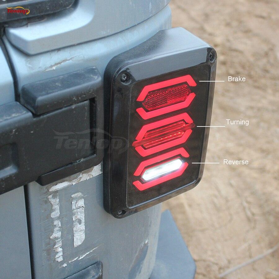 The Newest LED Tail Light With Brake Turning Reverse Light For Wrangler 07-16 Europe/US Type