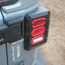 El Más Nuevo LED de Cola Con La Luz de Freno de Torneado, Luz de Marcha Atrás Para Wrangler 07-16 Europa/EE. UU. Tipo
