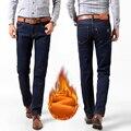 Флис бархатные теплые джинсы для мужчин homme мужская Жан masculina рваные джинсы прямые утолщаются хлопка брюки плюс размер 28-48 # YF6011